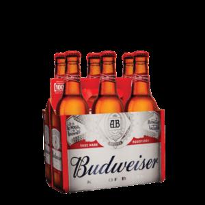 """באדווייזר (האמריקאי) שישיה 330 מ""""ל – Budweiser 6 pack"""