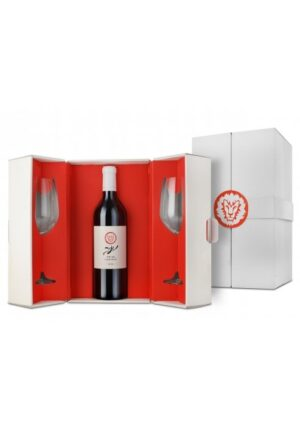 """יקב יתיר מארז שי """"נחל יתיר"""" + זוג כוסות יין –   """"Gift Box by Yatir Winery """"Yatir Creek + 2 Wine Glasses"""
