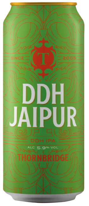 """ת׳ורנברידג׳ די. די. היץ. ג'ייפור פחית 440 מ""""ל –  Thornbridge DDH Jaipur IPA"""