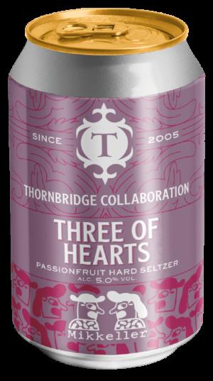 """ת׳ורנברידג׳ טרי אוף הארטס זלצר 330 מ""""ל Thornbridge Three of Hearts Hard Selzer"""