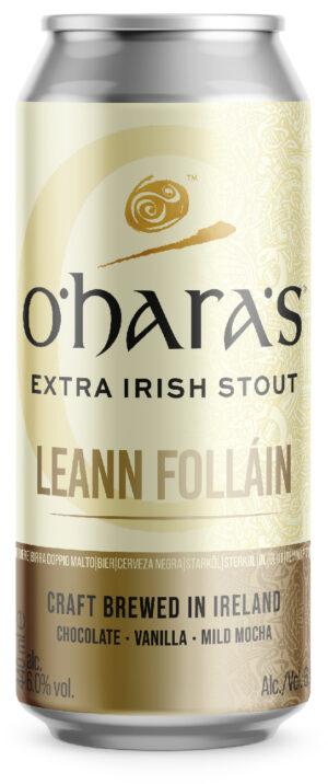 """אוהר'ס ליין פוליין סטאוט אקסטרה אירי פחית 440 מ""""ל   O'hara's Leann Follain Extra Irish Stout Can"""