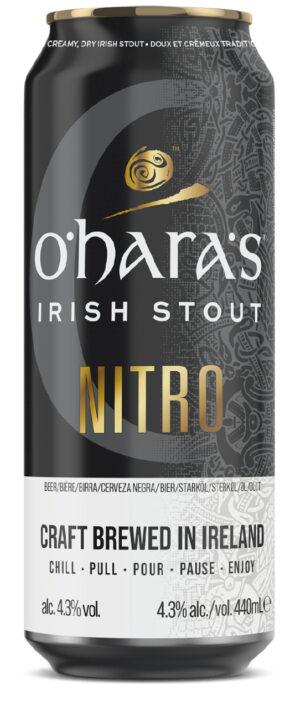 """אוהר'ס ניטרו סטאוט אירי פחית 440 מ""""ל O'hara's Nitro Irish Stout Can"""