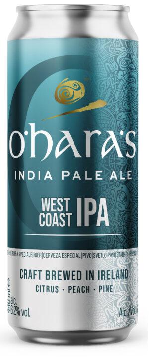 """אוהר'ס ווסט קווסט איי.פי.איי. פחית 440 מ""""ל O'hara's West Coast IPA Can"""