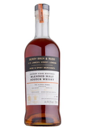 """ברי ברוס אנד רוד שרי קאסק בלנדד מאלט 700 מ""""ל Berry Bros & Rudd Sherry Cask Matured Blended Malt Scotch Whisky"""